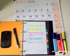 implementar, calendario, apuntar, emprender, acción, www.aorganizarte.com