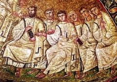 Particolare dei mosaici di sant'Aquilino