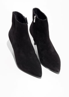 & Other Stories pointy suede boots