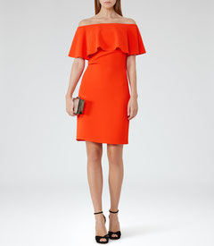 Reiss orange dress