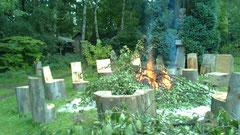 Verbrennung am Feuerplatz