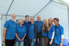 Das Team 2013: v.li: Gerhard, Christine, Jascha, Regina, Johann, Sina, Svenja und Anja
