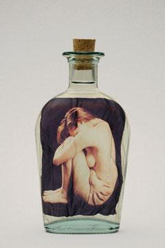 """""""Rannicchiata""""di B.BOLCHI emulsione di Polaroid in acqua"""