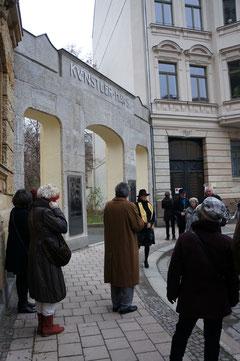 Künstlerhaus Leipzig Portal Übergabe
