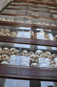 5.000 Totenschädel in Choeung Ek