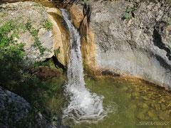 Трехкаскадный водопад. Каскад первый