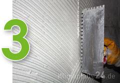 Klimaplatte verarbeiten - Silikatkleber vollflächig aufziehen