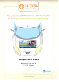 Whirlpoolcenter Weeze, Spende