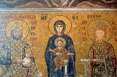 アヤソフィア内部のモザイク画