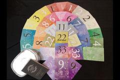 新しい数秘カードもご紹介します その名もNo.インスピレーションカード   キラキラ綺麗でトランプサイズで持ちやすいですよ