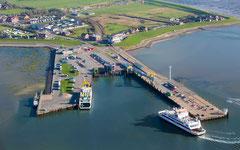 Dagebüll Hafen Luftaufnahme