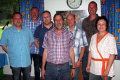 Frank Rottstegge, Manfred Rischkopf, Lutz Oraschewski, Rainer Metko, Martin Plötzwich, Ingo Wehrkamp und Martina Böttcher