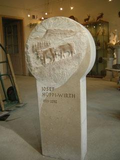 Grabzeichen Grabstein Paul Widmer Bildhauer