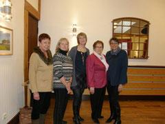 (v.l.) Gisela Bove - Kirsten Wegner - Christa Emcke - Elsa Junge - Jutta Foelz