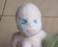 羊毛フェルト人形の顔