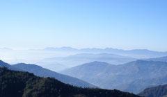 Vue entre Langtang et Helambu, Contreforts de l'Himalaya