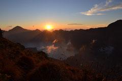 Das wunderbare Panorama vom Rand des Kraters aus