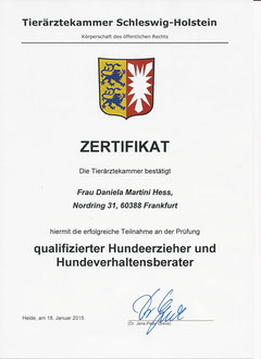 Zertifikat von Schleswig-Hostein