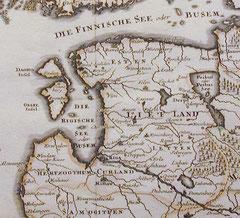 Karte des Baltikums