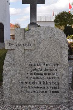 Gravsten Ægtepar KIRSTEN, Ravsted (Aufnahme:K.Kirsten 2012)