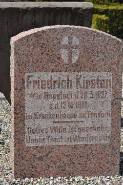 Gravsten Friedrich Kirsten, Ravsted (Aufnahme:K.Kirsten 2012)