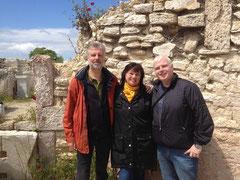 Bernd, Karin und Thomas in Troas