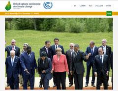 COP21に参集した各国首脳(公式サイトより)