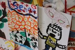 エイズ孤児たちの水彩画