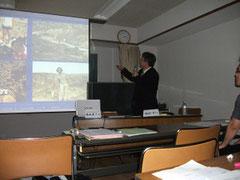 2010年7月18日:「軍医学校跡地の発掘調査で何がわかるか」講演風景