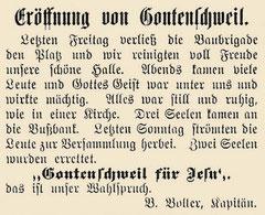 "Bericht im ""Kriegsruf"""