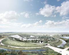 """So sieht das neue Erlebniscenter """"Naturkraft"""" von oben aus. Foto/Animation: PR/Naturkraft"""