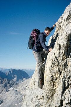 Klettern auf dem Jubiläumsgrat (Wetterstein)