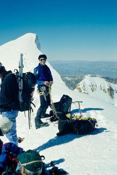 Auf dem Gipfel des Huayna Potosi (Bolivien)
