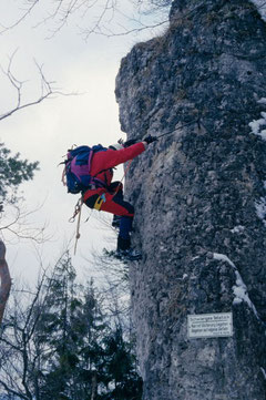 Winterbegehung Hohenglücksteig in der Hersbrucker Schweiz