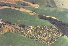 Luftaufnahme des Kleingartenvereins
