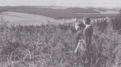 So blickte man 1937 von der gegenüberliegenden Talseite auf das Gelände unserer jetzigen Anlage