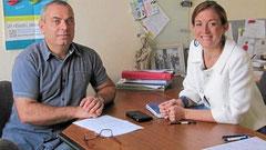 ean-Marie Quiniou et Emmanuelle Sagorin ont préparé l'année scolaire, mercredi.
