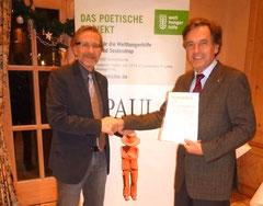 Präsident Bernd Wiesmann und der PAUL-Autor.