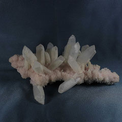 Quartz on Rhodochrosite Cavnic Romania