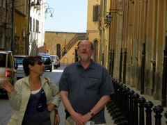 Tour guide Maria Paola Loi and Jim, June 2009