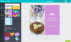 A very complete user interface of Canva with a tons of templates