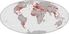 Klima-Stationen sind auf der ganzen Welt verteilt. NASA