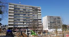 Antenne relais installée sur le toit de l'immeuble du 38 Place Louvois à Vélizy-Villacoublay.