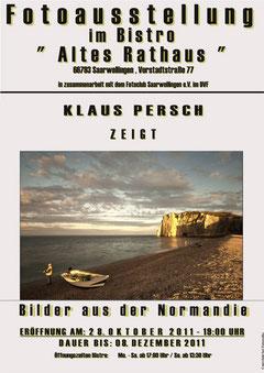 Plakat zur Ausstellung von Klaus Persch