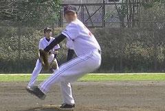 草野球チーム アロハ 投手 綿森