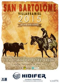 Fiestas de Villarramiel 2015 Cartel y Programa