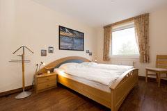Schlafzimmer in der Ferienwohnung Cuxhaven