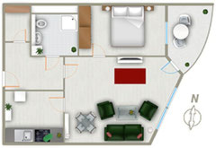 Grundriss der Ferienwohnung