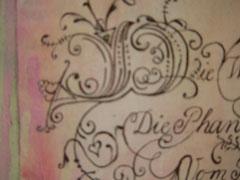 Schriftkunst Detail Cadel