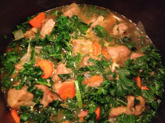 Stew in the pot - KALE!